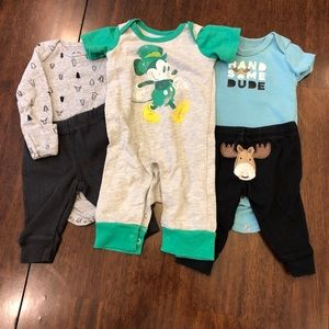 🎃 4/$15 DISNEY BABY/CARTER'S Newborn Boys Sets